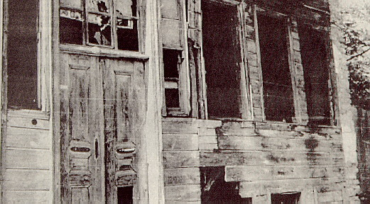 A front view of a burnt Hellenic home in Constantinople. The Turks burned and destroyed more than 3,500 Hellenic homes, in their attempt to eradicate the local Hellenic population from Constantinople.